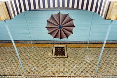 Colorful Ceiling in Bardo Museum, Tunis, Tunisia royalty free stock images