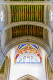Colorful Ceiling of Cathedral of Almudena royalty free stock image