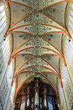 Colorful ceiling in the cathedral the Dutch city Den Bosch Stock Photo