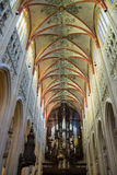 Colorful ceiling in the cathedral the Dutch city Den Bosch Royalty Free Stock Image