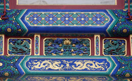 Colorful ceiling decoration at the of The Lama Yonghe Temple in Beijing Stock Photography