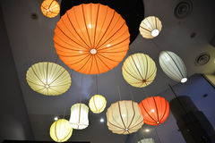 Colorful Ceiling Lights Royalty Free Stock Photography