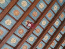 The colorful ceiling of the loggia of Trogir Stock Photos