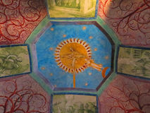 Colorful ceiling painting. In Saint Peters Cathedral, Osnabruck, Germany stock photography