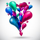Colorful celebrate background. Royalty Free Stock Photo