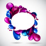 Colorful celebrate speech background. Stock Images