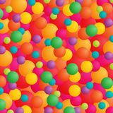 Colorful celebration. Abstract background with balls or balloons in bright colors Royalty Free Stock Photo