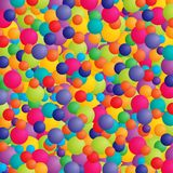Colorful celebration. Abstract background with balls or balloons in bright colors Stock Images