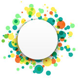Colorful celebration background with confetti royalty free stock images