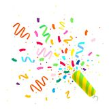 Colorful celebration background with confetti. Vector illusration Royalty Free Illustration