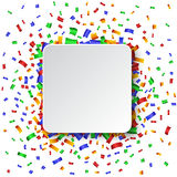 Colorful celebration background. with confetti. Royalty Free Stock Photo