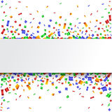 Colorful celebration background. with confetti. Royalty Free Stock Photos