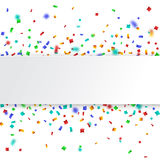 Colorful celebration background. with confetti. Stock Photography