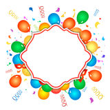 Colorful celebration background with confetti Stock Photography