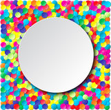 Colorful celebration background with confetti. Stock Photos