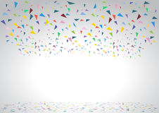 Colorful celebration background with confetti. Vector Illustration Royalty Free Stock Photography