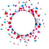 Confetti celebration background. stock illustration