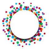 Colorful celebration background with plastic balls. Abstract сolorful vector banner for celebration Stock Image