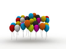 Colorful Celebration Balloons Royalty Free Stock Photography