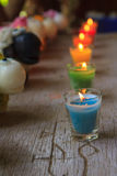 Colorful celebration candles Royalty Free Stock Photos