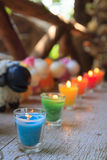 Colorful celebration candles Stock Photography