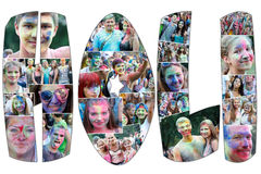 Colorful celebration , The festival of colors Holi Stock Photos