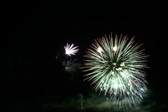 Colorful celebration fireworks. Can be used as background, as banner or as general illustration Royalty Free Stock Images