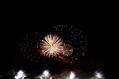 Colorful celebration fireworks. Can be used as background, as banner or as general illustration Royalty Free Stock Photos
