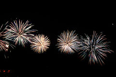 Colorful celebration fireworks. Can be used as background, as banner or as general illustration Stock Photography