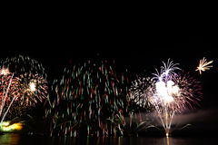 Colorful celebration fireworks. Can be used as background, as banner or as general illustration Stock Photos
