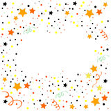 Colorful celebration frame background with confetti. Modern decoration. Vector background Royalty Free Stock Photography
