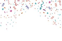 Confetti celebration frame background. Horizontal, anniversary.