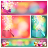 Colorful celebration ornament banner background, c Stock Photography