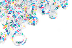 Colorful celebration ribbon Royalty Free Stock Image