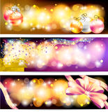 Colorful celebration and sales ornament banner bac. Three styles of Colorful night celebration and sales ornament banner background, create by vector Stock Photography