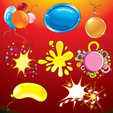 Colorful celebration tags Stock Images