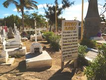 Cemetery at San Jose del Cabo, Mexico royalty free stock photo