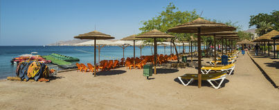 Colorful central beach of Eilat Royalty Free Stock Images