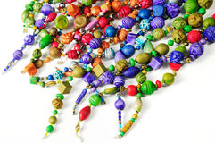 Colorful ceramic beads Stock Photo