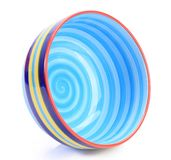 Colorful ceramic bowl. On a white background royalty free stock photo