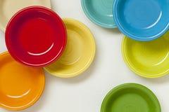 Colorful ceramic bowls Stock Photos