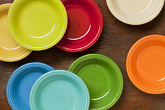 Colorful ceramic bowls abstract Stock Photography