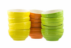 Colorful ceramic bowls Royalty Free Stock Image