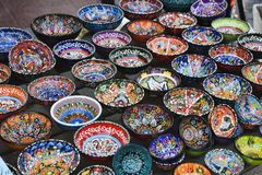 Colorful Ceramic Bowls Stock Photography