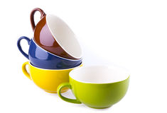Colorful ceramic cup Royalty Free Stock Photo