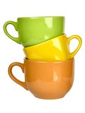 Colorful ceramic cups Royalty Free Stock Photos
