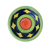 Colorful ceramic dish Royalty Free Stock Photography