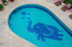 Colorful of ceramic elephant  pool Royalty Free Stock Image