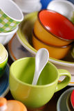 Colorful ceramic kitchen utensils Royalty Free Stock Images