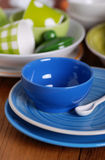 Colorful ceramic kitchen utensils Stock Photos